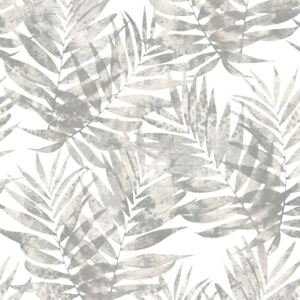 Organic Textures Speckled Palm Grey Wallpaper Sample