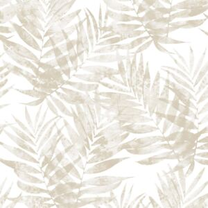 Organic Textures Speckled Palm Beige Wallpaper Sample