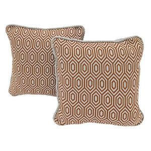 Home Pair of Scatter Cushions - Orange