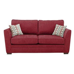 The Delight 2 Seater Classic Back Fabric Sofa - Red