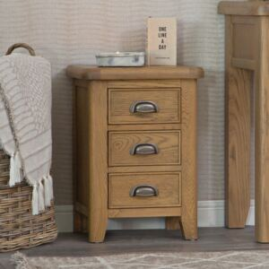 Wessex Smoked Oak Small Bedside Table