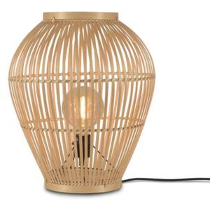 Tuvalu Small Lamp - / Bamboo - H 50 cm by GOOD&MOJO Beige/Natural wood