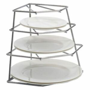Delfinware Chrome Four Tiered Plate Stacker