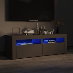 TV Cabinet with LED Lights Grey 120x35x40 cm