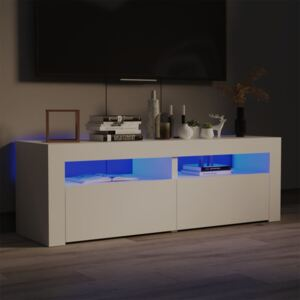 TV Cabinet with LED Lights White 120x35x40 cm
